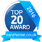 Accreditation: Top 20 Care Homes for Beaumont Hall